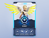Overwatch character card