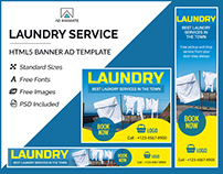 Laundry Service Banner - HTML5 Ad Template