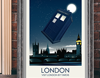 Movie Inspired Travel Poster Series (Dr Who)