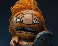Has Anyone Seen My Sword? Custom Munny and Foomi.