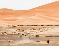 Merzouga and desert around