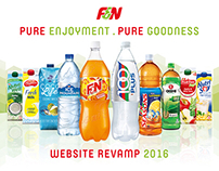 F&N Singapore Website Revamp 2016