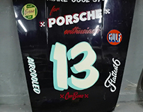 Hand painted porsche's hood for CarBone Liveries