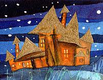 nocturnal villages - Paisajes nocturnos con aldeas
