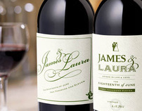 J&L Wedding Wine Labels