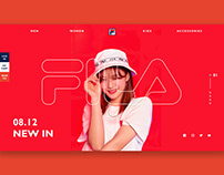 Fila Website Concept