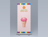Roll-up Banner for Ice-Cream Company