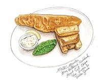 Haddock & Chips Illustration