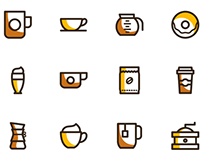 Freebie - 20 coffee vector icons