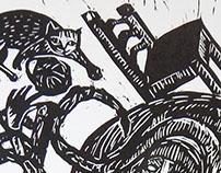 Lino cut illustrations