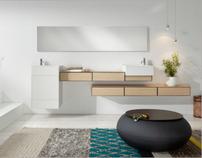 Bath furniture collection for Sistema MIDI