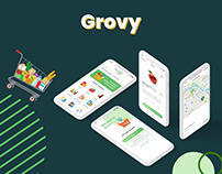 Grovy UI/UX Design | Mobile Food delivery app