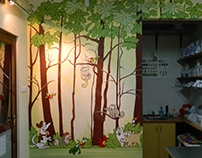 "...inspired by ""Simon's Cat"" - veterinary room"