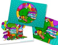 ERA UMA VEZ UM SONHO :: BIRTHDAY CARDS ILLUSTRATION