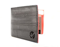 recycled bicycle inner tube wallets & accessories
