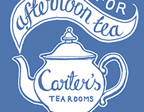 Tea Rooms Branding, Lettering and Illustration