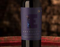 NOSTALGIA wine label design by JVD Estudio