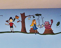 School library mural painting.