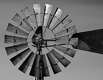 BLACK & WHITE WINDMILL
