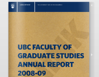UBC Faculty of Graduate Studies Annual Report 2008–09