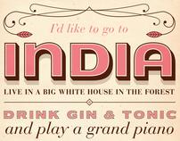 India Song Screenprint