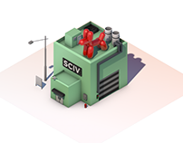 Factory Low Poly - Cinema 4D