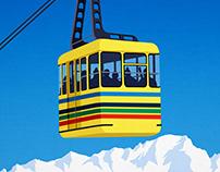 Chamrousse Ski Poster