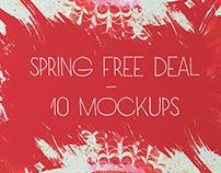 SPRING FREE DEAL – 10 MOCKUPS