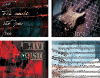 Music notebooks and posters