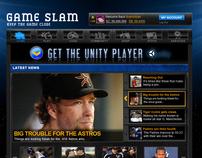 GameSlam Website Mock-ups
