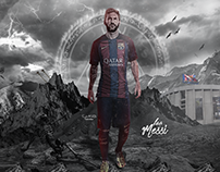 Leo Messi In The War - Wallpaper