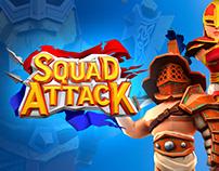 Mobile game UI + 2d art. Squad Attack!