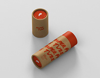 Paper Tube Mockup - Slim Short Size