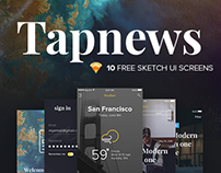 Tapnews | Free mobile ui kit