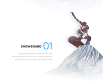 Snowboard and Ski - Landing Page