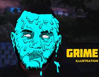 GRIME ART | Illustration Process