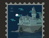 Hogwarts Postage Stamp