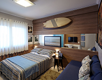 Architecture Photography - Surfer Bedroom
