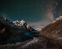Glacier and Stars