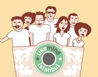 Tshirt Illustration for LikeMind Istanbul