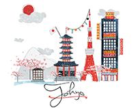 Illustration Tokyo