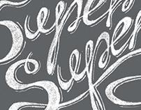 Super Super Fake lettering