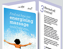 Energising Massage leaflet and branding