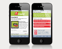 MADD Mobile site