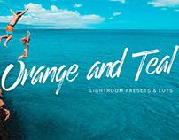 Orange Teal Lightroom Presets + LUTs