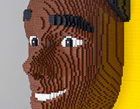 LEGO sculptures -  Miguel's head