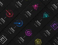 Chezare Black. 8 Business card templates