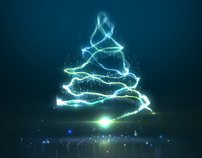 Christmas tree from particles