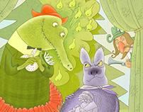 Crocodile Gena and his friend