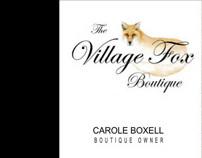 Website design for The Village Fox Boutique